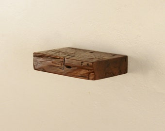 """8"""" x 2"""" x 5"""" deep Reclaimed floating shelf, Pine, antique, unique, 1800's, Industrial, old growth"""