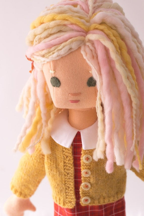 Handmade Rag Doll with Doll Clothes