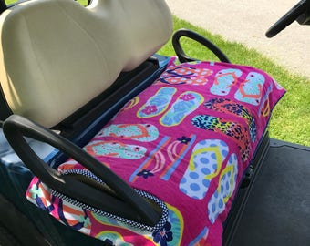 Flip Flopping Terry Golf Cart Seat Cover