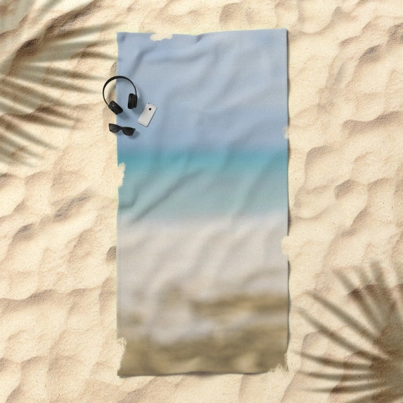 Blue Beach Towel, Beach Photography, Abstract Ocean Art, Bridesmaid Gift, Pool Towels, Pool Decor, Blue Ombre Towel, Poolside Accessory