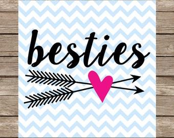 Besties svg Best Friends svg Best Friend svg files svg designs svg cricut cut files bff svg DXF SVG Silhouette Cameo cutting