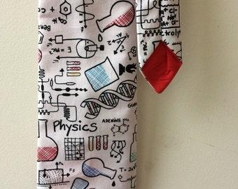 Adult Science tie, chemistry tie, physics tie, science print, science gift, teacher tie, teacher gift, chemistry print, chemistry gift