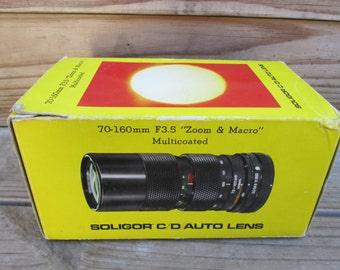 Vintage Soligor C/D 70-160 mm Camera Lens Auto