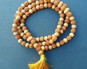 Natural Rudraksha and Sandalwood Mala -  SPECIAL OFFER!