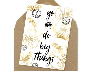 Do Big Things graduation card, class of 2017, open house card, graduation printable, grad card, instant download, congrats card | A6
