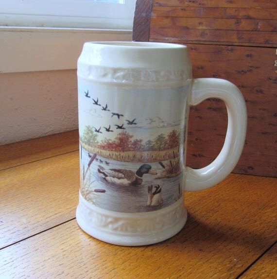 Vintage Duck Pond Beer Stein