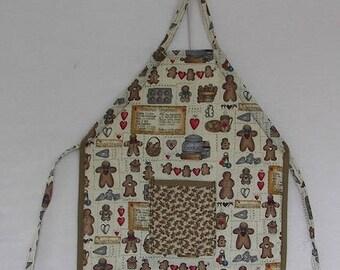 grandma gingerbread child apron