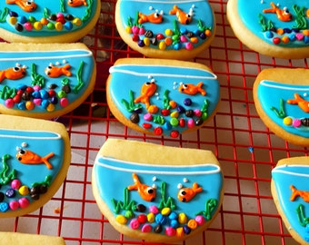 12 gourmet sugar cookies:fishbowls