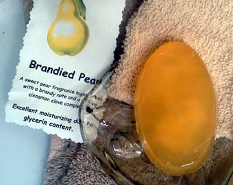 Handmade Soap BRANDIED PEAR Natural Homemade Bath Bar 30 Different Scents + Free Gift