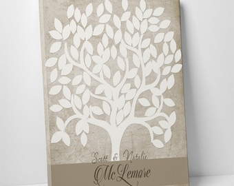 Wedding Guestbook Alternative, Gallery Wrapped Canvas, Wedding Tree Guest Book, Wedding Signing Tree, Guestbook Canvas, Signing Canvas