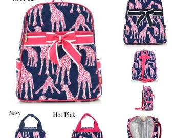 Giraffe Backpacks & Lunch Bags