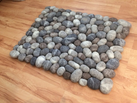 Felt Stone Rug Bath Mat Super Soft With Soft Core 3d
