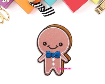 Gingerbread Boy Cookies New Sew on / Iron On Patch Embroidered Applique Size 5.4cm.x7.9cm.