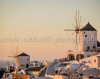 Santorini Oia Sunset Photo Greece Charm Photo Fine Art Photography European Old World Charm Romantic Home Decor Wall Art Sunset Greek Island