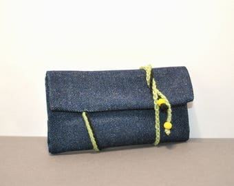 Denim Tobacco Case, Denim Tobacco Pouch, Denim Tobacco Bag, Fabric Rolling Pouch, Gift For Smokers, Unique Gift