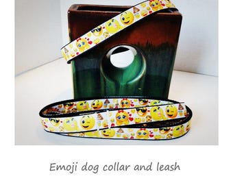 Emoji Dog Collar or Leash