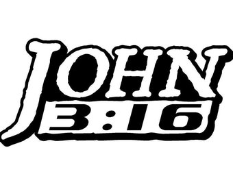 John 3:16 Car Decal