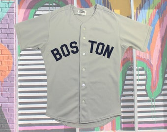 80s Boston Red Sox Jersey ~ S // Vintage, Authentic, Official, Baseball, MLB, Gray, Sewn, Stitch, 1970's, 70s, 1980's, Mens 38, Size Small