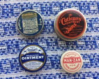 Set of Four Sample/Advertising Tins