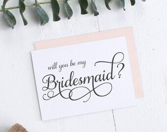 Will you be my bridesmaid card - Wedding card - C005-1