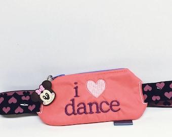 Insulin pump pouch / I love Dance