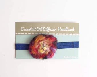 Essential Oil Wool Flower Diffuser Headband ~ Multi Color