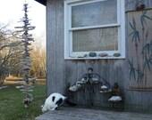 Driftwood RainChain (Rain Chain)/Mobil, Rain Gutters, MTO, OOAK, Home Decor, Garden Art