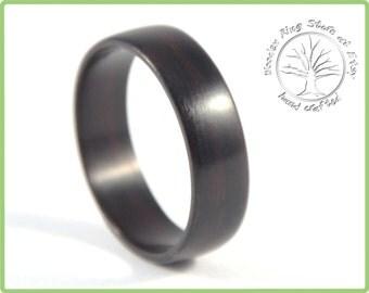 Wood Ring, Wooden Ring, Wood Wedding Ring, Wedding Ring, Mens Wood Ring, Men's Ring, ebony wood  Ring, Ebony Ring, Wedding Band Men, Wedding