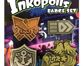 Inkopolis Badge set - Deluxe Metal Pins