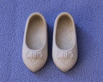 Vintage Penny Brite Doll Original White Shoes, NM