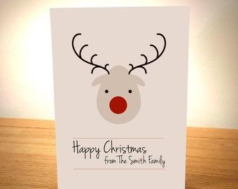 Family Christmas Card - Blank Greeting Card - Christmas Art - Christmas Card - Family - Blank