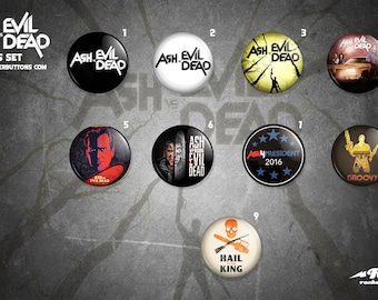 Ash vs Evildead buttons collection / / collection of Ash veneers vs Evildead