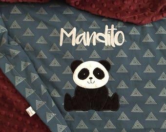 Panda Bear Baby Blanket   Personalized Baby Blanket   Panda Baby Blanket   Bear Blanket   Panda Blanket   Bear Baby Blanket