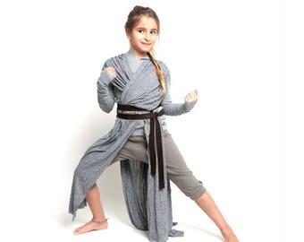 New!rey costume, starwars rey costume, jedi costume, costume for girls, halloween costume, starwars worrior