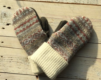Wool mittens,upcycled wool mittens, sweater mittens, upcycled sweater mittens, fleece lined mittens, mittens, winter mittens, gifts for her
