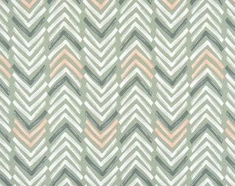 Sage Green & Gray Southwest Tribal Fabric by the Yard Designer Cotton Home Decor Fabric Geometric Drapery Fabric Upholstery Fabric C744