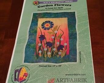 Garden Flowers Art Quilt Kit