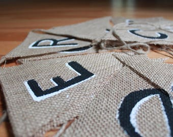 Customized Burlap Bunting Flag