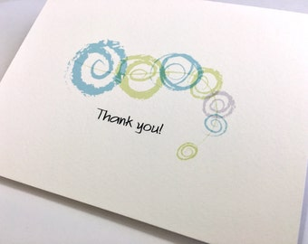 Thank You Note Cards Set of 5 Elegant Note Cards Handmade Note Cards Colorful Cards with Envelope Seals Celtic Fine Art Note Cards