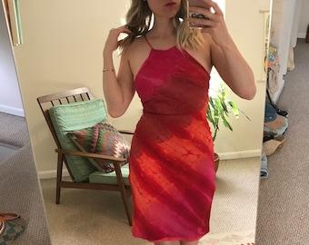 1990s Pink Halter Dress