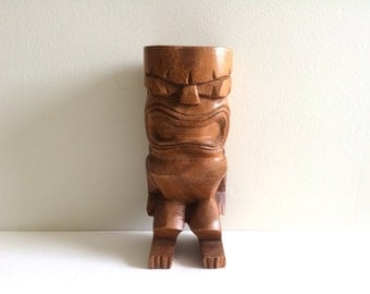 Wood tiki figure