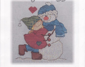 "Cross Stitch Pattern. ""Snowy Snuggles"". 1504."
