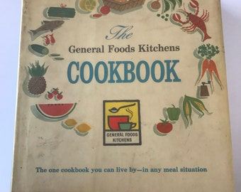 Vintage The General Foods Kitchens Cookbook -  Mid-century - 1959 First Edition