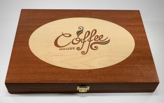 nespresso capsule wooden inlaid box. Black Bedroom Furniture Sets. Home Design Ideas