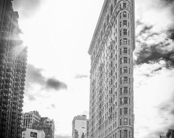 Flatiron Building, New York City, Architecture, Black and White Fine Art Photography Print