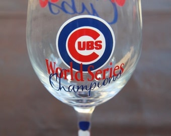 Chicago Cubs Exclusive World Series Glassware, Baseball, World Series Champions 2016! -