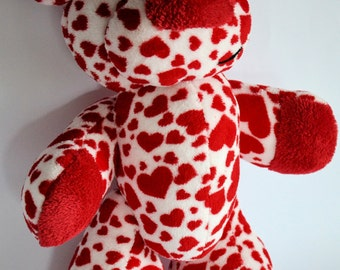 Valentine BRUNO is a HANDSEWN plush bear :)
