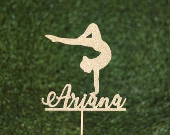 Personalised gymnast cake topper