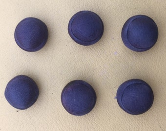 Set of 6 C1920's silk buttons