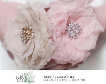 bridal flower | wedding hair piece | bridal hair piece | flower hair piece | beaded headpiece | silk hairpiece | wedding hair clip